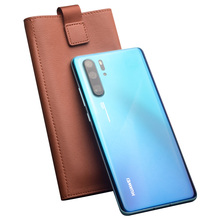 Qialino Luxury Genuine Leather Wallet For Huawei P30 Pro 6.47 Inch Pure Handmade Phone Cover Bag With Card Slots