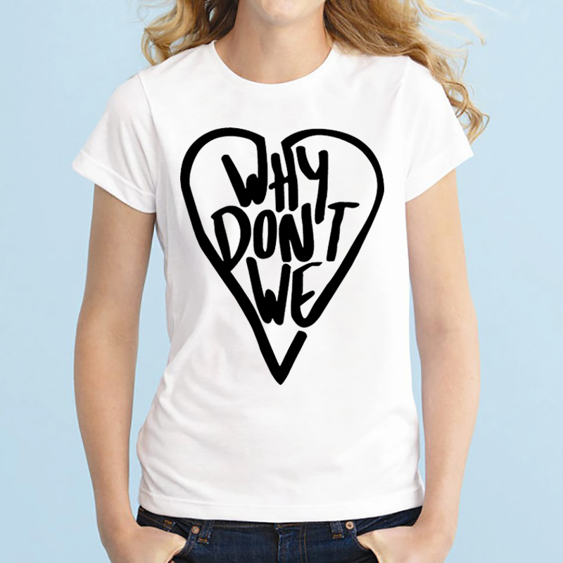 Why Dont We Shirts Plus Size Tops Tshirt Summer Tops Graphic Tees Why Dont We T Shirt Women White Grey Black Heather Grey XS-3XL