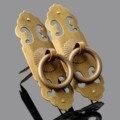 Mobiliário antigo Hardware Gaveta Alça Gabinete Puxadores e Maçanetas de Bronze Tira Do Armário Da Porta Puxe Acessórios Para Móveis Decorativos
