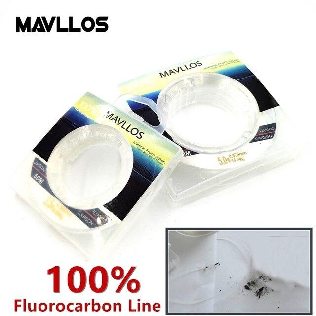 Mavllos 50 м туры 100% фторуглеродная леска моноволокна леска из нейлонового моноволокна карбоновая леска