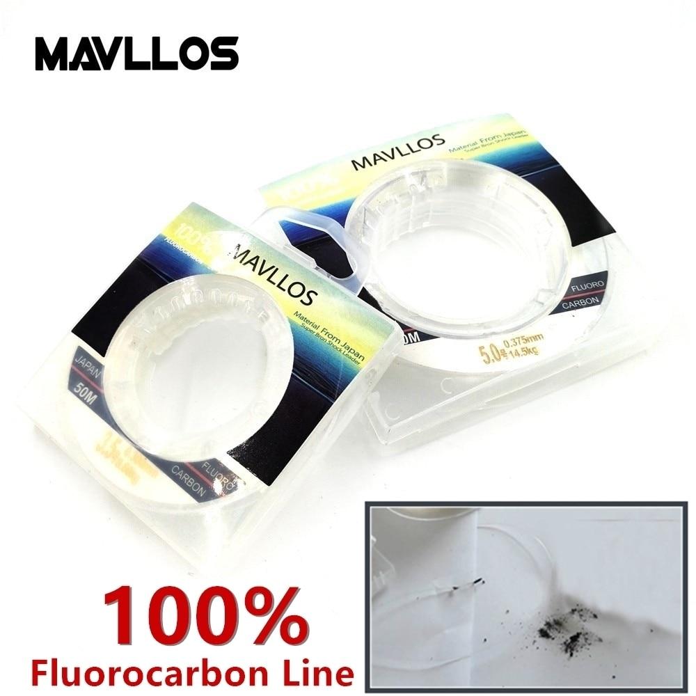 Mavllos 50m Ture 100% Fluorocarbon Fishing Line Sink Monofilament - Ձկնորսություն