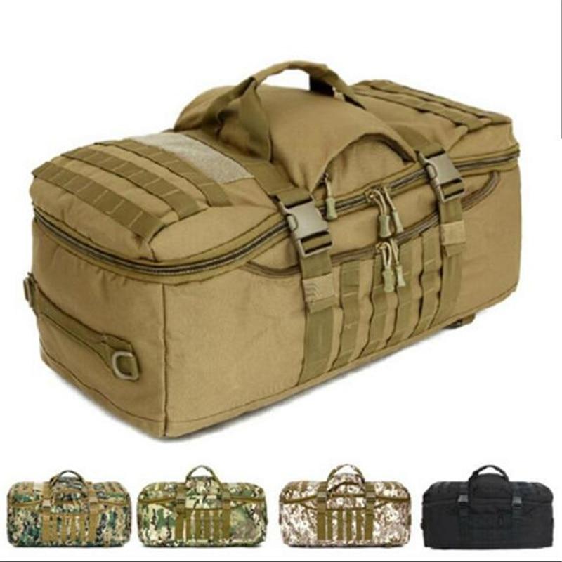Bags 60 l nylon waterproof font b backpack b font military 3 P font b backpack