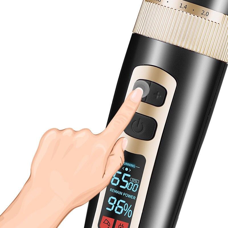 Tondeuse multi-fonction hommes barbe rasage Machine Berber Makinesi Profesyonel coupe-cheveux mis à niveau LCD affichage tondeuse à cheveux - 2