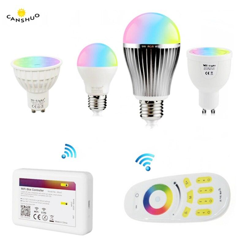 Led Bulbs & Tubes Light Bulbs Audacious Milight E27 6w Rgbcct 9w 12w Led Bulb Gu10 Mr4w E14 E27 Dimmable Led Bulb Lamps For Indoor Decoration Remote Control Mi.light