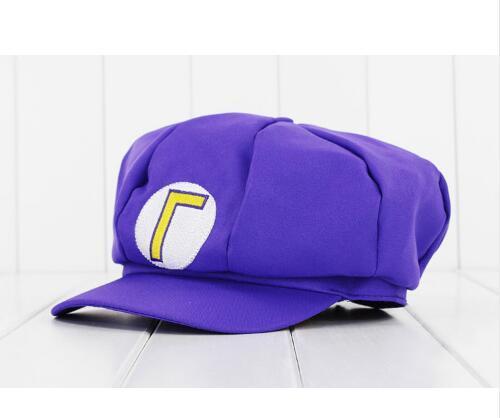 Anime Super Mario Hat Cap Luigi Bros Cosplay Baseball Costume 2
