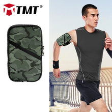 TMT Camouflage Anti-Slip Sports Armband Phone Cover Running Key iPhone XS iPod Case 4.7 in/5.5 in for Workout Gym Walking Hiking(China)
