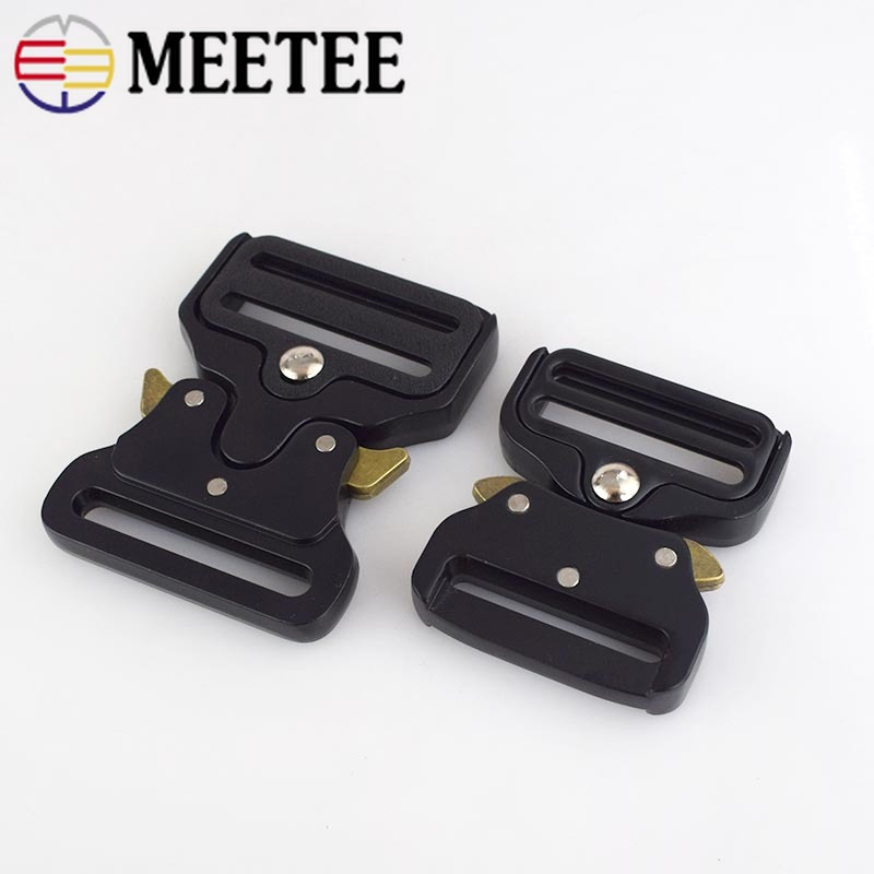 25//32//38//45mm Black Quick Side Release Metal Buckles for Bags Luggage Webbing