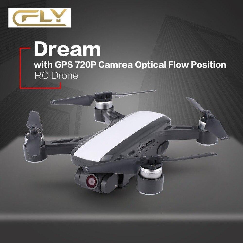 C-FLY Rêve 5g Maintien D'altitude Drone GPS Flux Optique Positionnement Suivez-moi RC Quadcopter avec 720 p FPV, 1080 p Vidéo HD Caméra