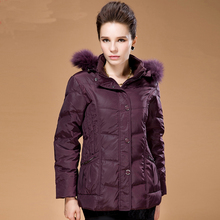 Nice latest Mother's vogue fur hooded winter duck down parkas Europe center aged ladies lengthy jackets thick heat coats 6XL S1382