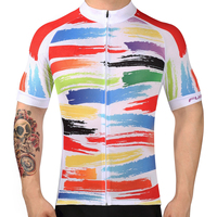 2017 Bicycle Mtb Speckle Cycling Jersey Only Short Sleeve Cycling Clothing Ropa Ciclismo Invierno Bike JerseyRainbow