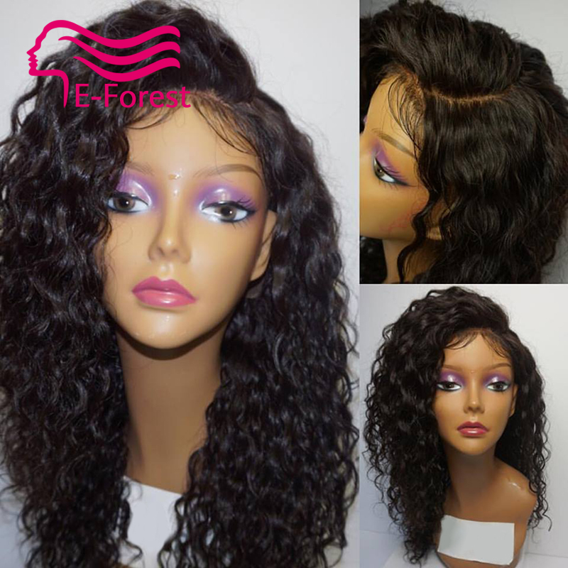 Peruvian Unprocessed virgin full lace front human hair wigs glueless water wave with Natural baby hair