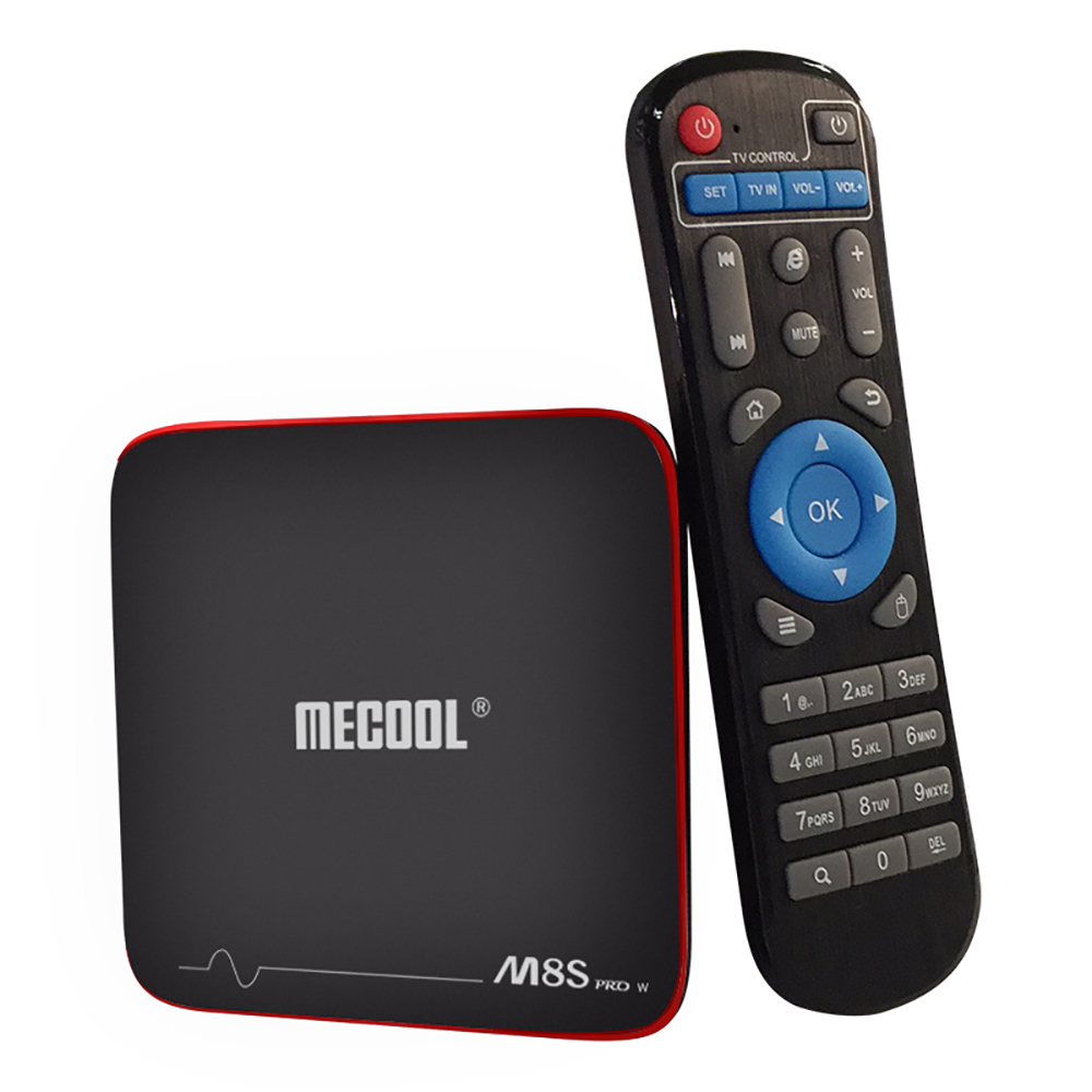 MECOOL M8S PRO W Android TV Box S905W CPU Support 2.4GHz WiFi 4K H.265 Support Miracast Airplay DLNA 64Bit 2GB RAM + 16 GB ROM