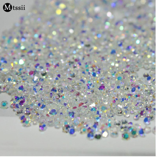 Mix Sizes 1000PCS Pack Crystal Clear AB Non Hotfix Flatback Rhinestones  Nail Rhinestoens For Nails 81681fb9ea2a