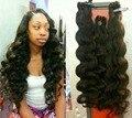 Afroamericano 7A grado queen productos de pelo Clip en la onda del cuerpo negro brasileño de la virgen del pelo extensión del pelo 7 unids 100 g/pack