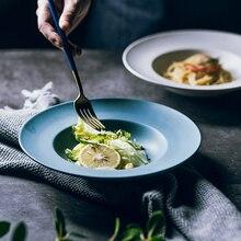 ФОТО muzity ceramic soup plates round shape pigmented glaze porcelain soup or salad dishes 9 inch pasta dish