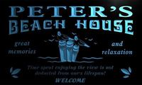 X0043 Tm Peter S Beach House Custom Personalized Name Neon Sign Wholesale Dropshipping