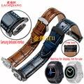 R720 laopijiang samsung gear s2 versão esportiva do couro pulseira de relógio inteligente pulseira sports pulseira acessórios