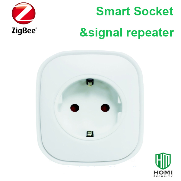 EU Type 16A Power Socket Wireless Zigbee Protocol EU Plug Metering Zigbee Socket 3000W