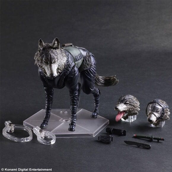Play Arts KAI Metal Gear Solid V The Phantom Pain D-DOG PVC Action Figure Collectible Model Toy KT3411 25cm play arts kai metal gear solid 5 the phantom pain quiet venom snake pa pvc action figure doll toys kids gift brinquedos