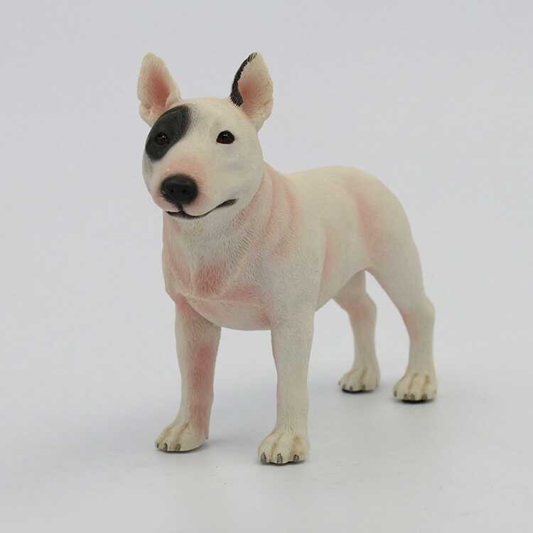 Resin Bull Terrier Dog Simulation Dog Model Resin Craft Decoration Pet Dog Sculpture Collection Personalized Creative Gift