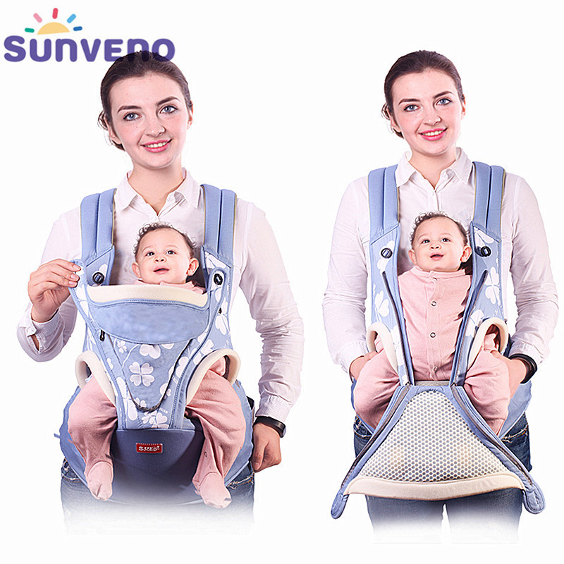 SUNVENO Ergonomic Baby Carrier Backpack Baby Carrier Sling Mochila Infantil Backpack Carrier Kangaroo Baby Bag Hand Free 0-36M baby carrier backpack