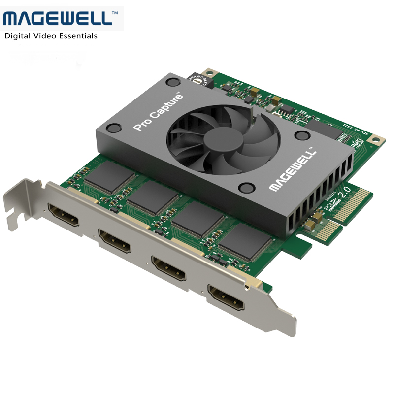 Full HD Video Capture Card Quad HDMI PCI-e 2.0 HDMI 4 Input Capture Software with embedded audio image