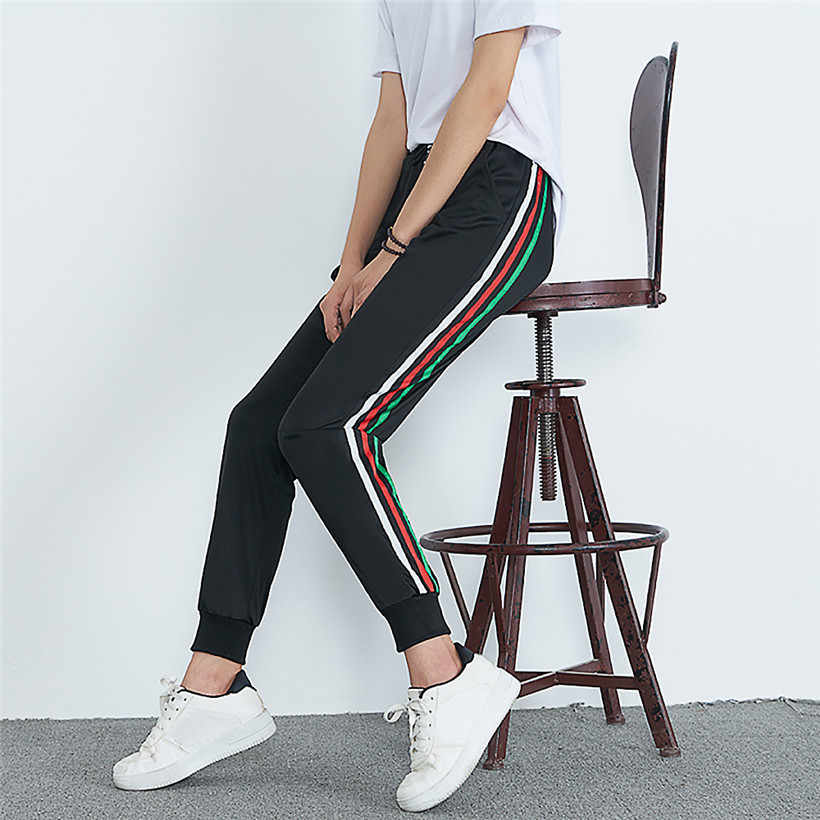 Sports Running Pants Striped Print  Women Training Pants Fitness Sports Pants Women Pantalon Deportivo Mujer 0907