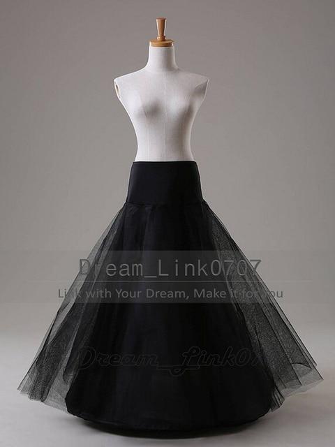 Cheap Black Tulle Wedding Petticoat Underskirt enaguas jupon enaguas novia anagua de vestido de noiva crinoline jupon mariage