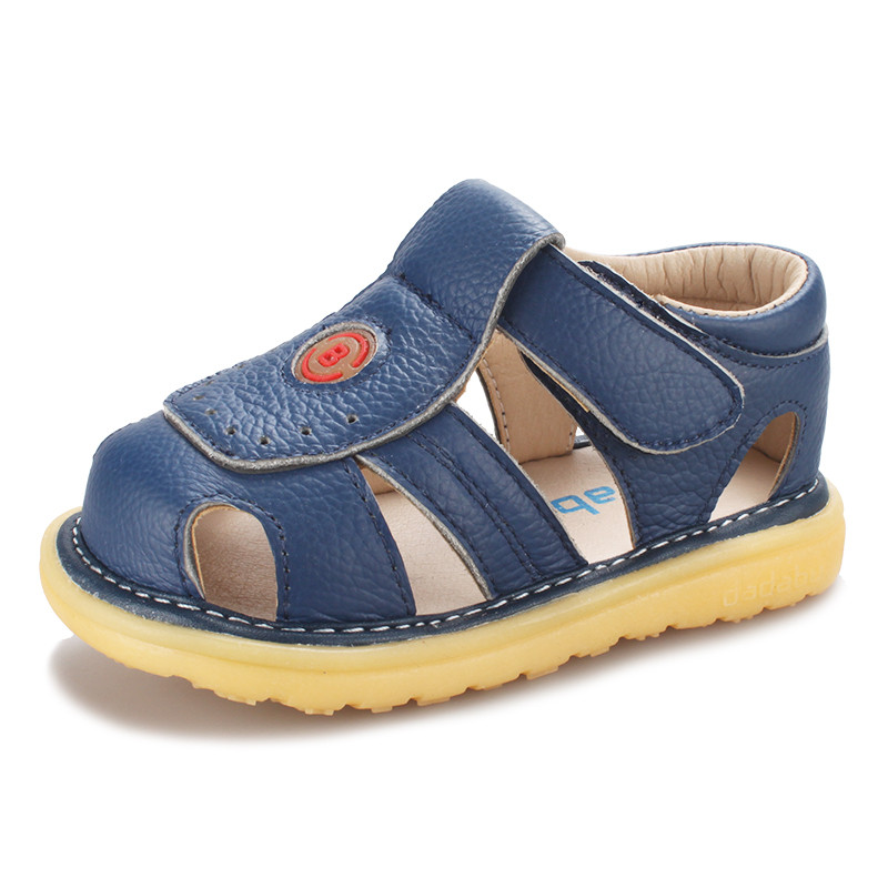 3 Colors Children Shoes Summer Non Slip Baby sandal Fashion Element Genuine Leather Kids Sandals Toe
