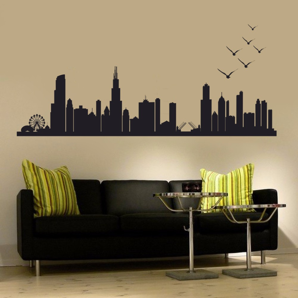 Online Get Cheap Chicago Decals Aliexpresscom Alibaba Group - Custom vinyl decals chicago