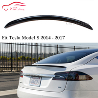 OEM Style Carbon Fiber Rear Spoiler Trunk Wing for Tesla Model S 5 door Liftback 2014 2017 Rear Trunk Boot Lip Tail Spoiler