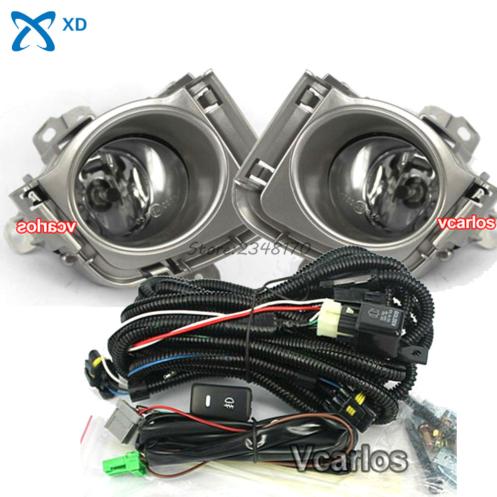 High Quality Fog Light Set 12V 55W H11 Fog lights Lamp for Toyota Prius 2010~ON Clear Lens Pair Set With Wiring Kit for toyota corolla fielder corolla axio 2007 corolla 2010 led drl fog lights lamp clear lens pair with wiring kit fog light set
