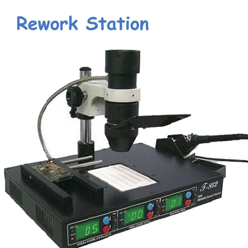 SMT Инфракрасная паяльная станция SMD паяльная станция паяльная сварочная IC Reballing машина T862
