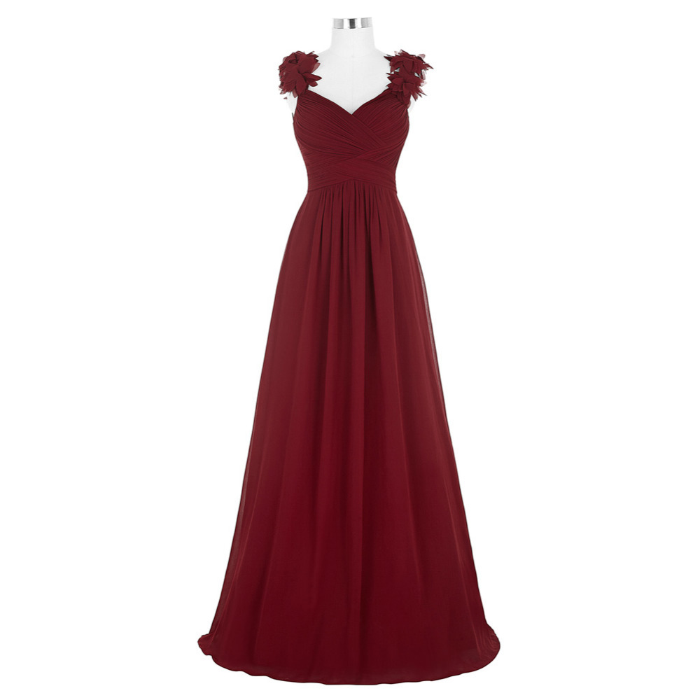 Buy Cheap Kate Kasin Long Dress 2017 Sexy V Neck Ruched Padded Burgundy Formal Wedding Party Dress Robe Vestidos Women Dresses Clothing