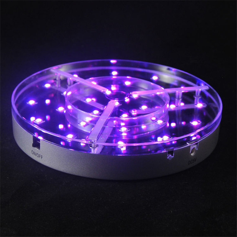 10Pieces/Lot 8inch LED Bright Light Base For Lighting Up Wedding Party Table Base Light Floral Lamp