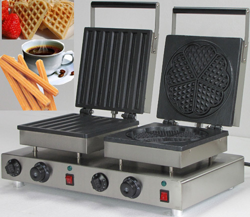 Hot Sale 110v 220V Commercial  Non-stick Electric Churro Waffle Maker _belgian waffles maker commercial 5l churro maker machine including 6l fryer
