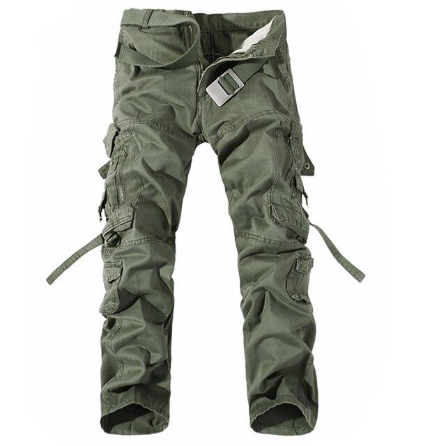 גברים מכנסיים מטען מכירה לוהטת בתוספת גודל 28 42 רופף מותג Homme צבאי מכנסיים צבא מותג בגדים מזדמנים לעבוד מכנסיים גברים