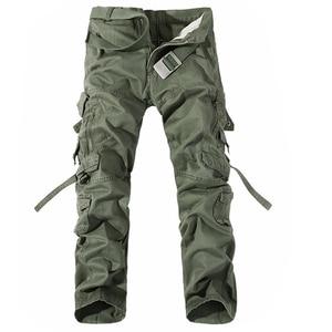 Image 1 - Hommes Cargo pantalon vente chaude grande taille 28 42 marque ample Homme militaire pantalon armée marque vêtements décontracté travail pantalon hommes