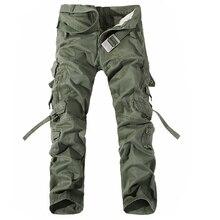 Męskie spodnie bojówki gorąca sprzedaż Plus rozmiar 28 42 luźne marki Homme spodnie wojskowe armia odzież marki w stylu casual, biurowy spodnie męskie