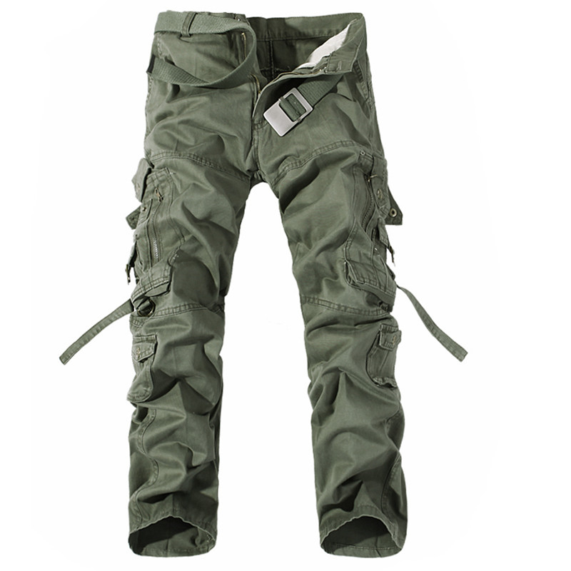 Men Cargo Pants Hot Sale Plus Size 28-42 Loose Brand  Homme Military Trousers Army Brand Clothing Casual Work Pants Men