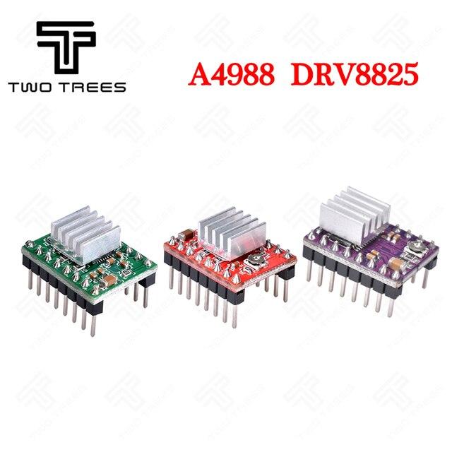 T-деревья 3D-принтеры Запчасти Reprap A4988 DRV8825 Драйвер шагового двигателя Модуль с радиатором Stepstick DRV8825 Совместимость StepStick