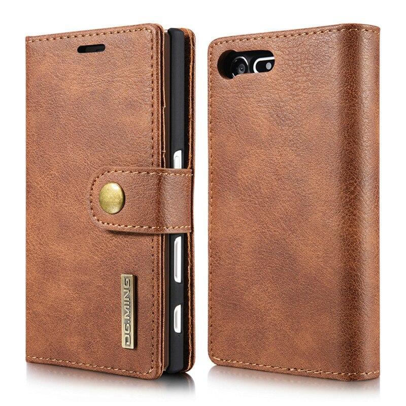 Пояса из натуральной кожи кошелек чехол для Sony Xperia X Compact 4.6 роскошные 2 в 1 мобильный телефон сумка-чехол для Для мужчин съемный чехол 4 цвета