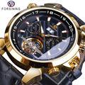 Reloj mecánico para hombre Forsining automático reloj de pulsera de cuero genuino reloj Masculino