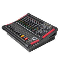 Freeboss MINI8-P 8 Channels Power Mixing Console Amplifier Bluetooth Record 99 DSP effect 2x170W Professional USB Audio Mixer