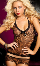 Sexy suspenders Fashion slim Hollow Leopard Print  Camisoles