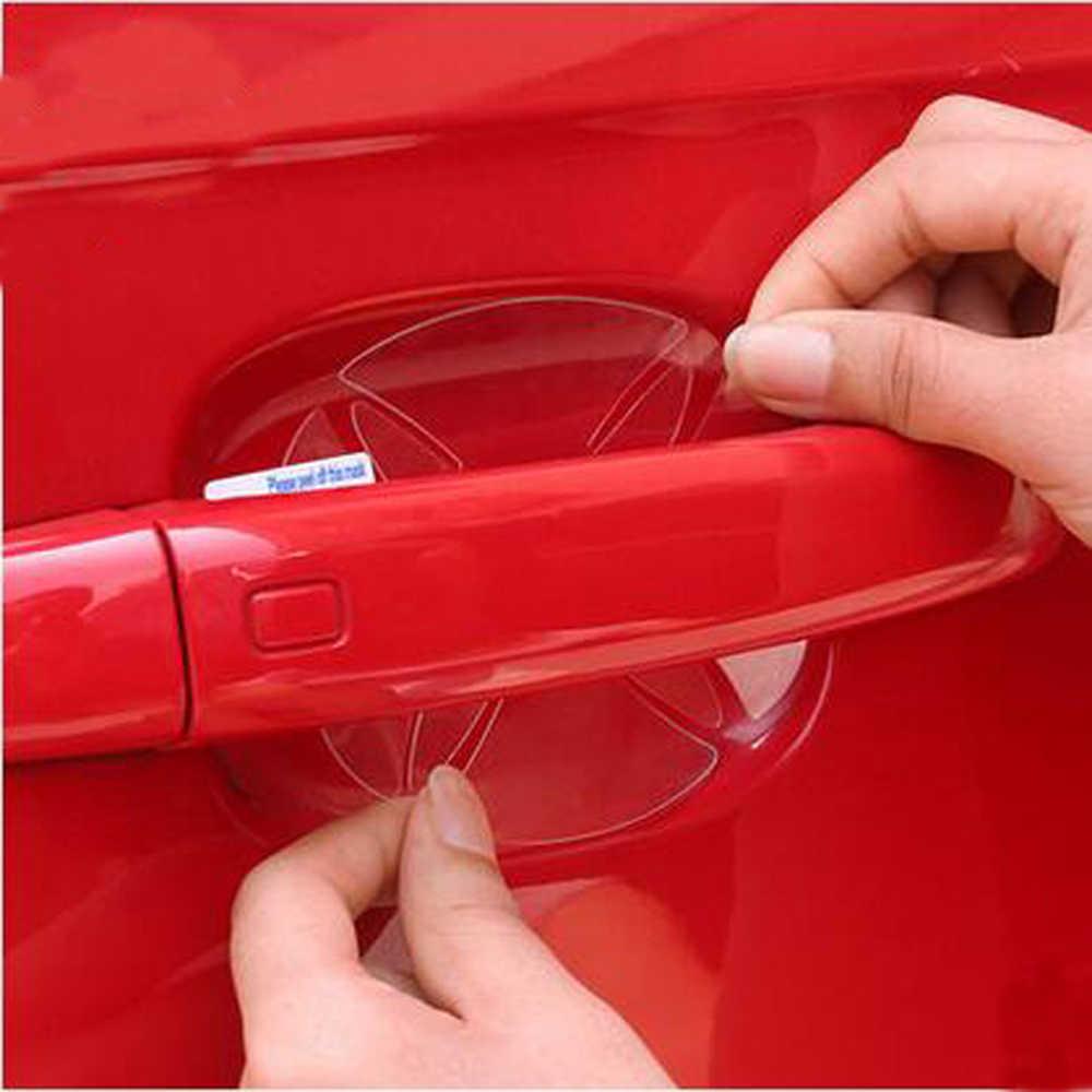 2018 nuevo manija de la puerta del coche pegatinas de protección para Nissan Qashqai x-trail Tiida Juke Note Almera Teana Accesorios