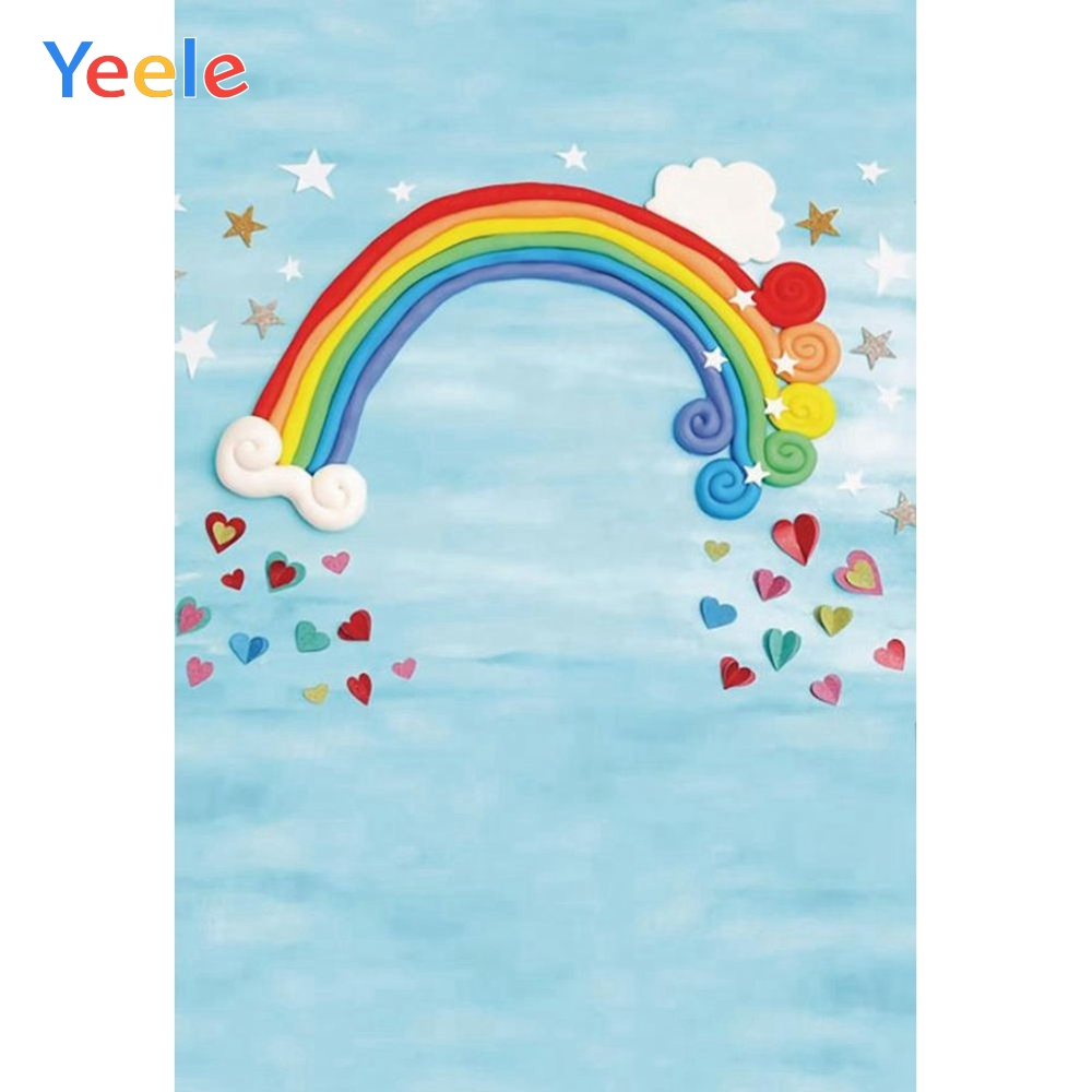Yeele Baby 1st Birthday Party Rainbow Star Dreamy Photography Backgrounds Personalized Photographic Backdrops For Photo Studio
