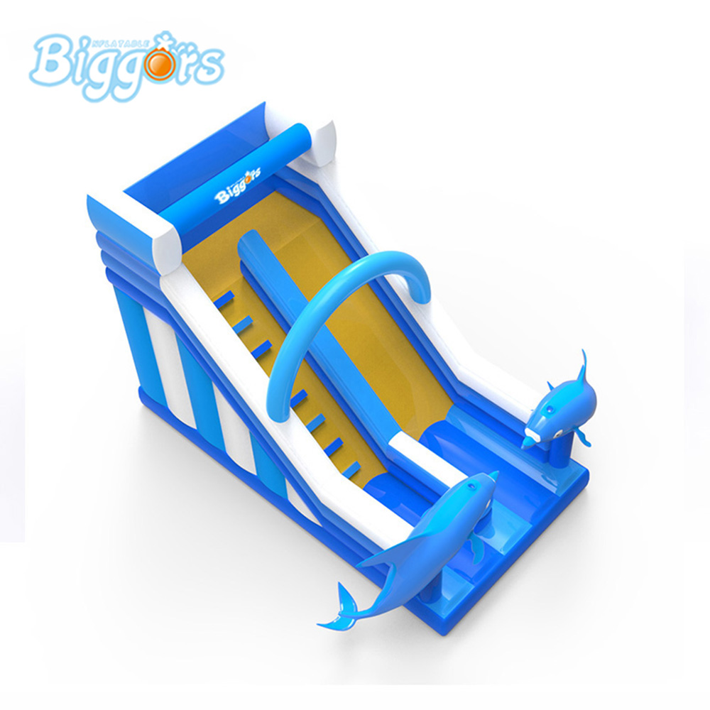New Design PVC inflatable dolphin water slide Inflatable commercial slide цена