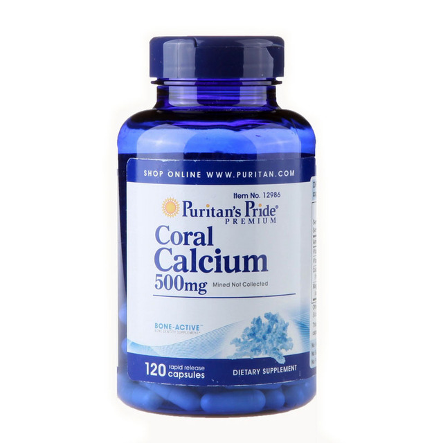 Coral Calcium 500 mg 120 capsules Free shipping