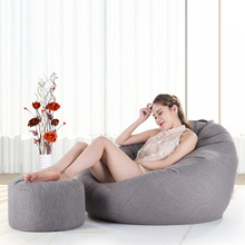 Bean Bag Sofa Cover Lounger Chairs Sofa With Ottoman Set Seat Living Room Furniture Without Filling Beanbag Beds Lazy Seat